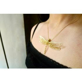 10K Yellow Gold Dragonfly Pendant