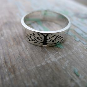 Tree Of Life Ring. Mens