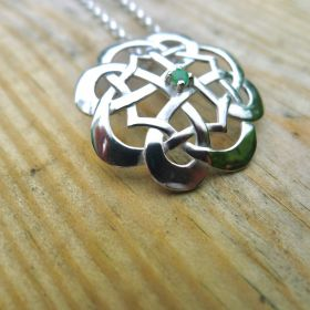 Emerald Celtic Pendant