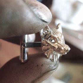 Silver Wolf Cufflinks
