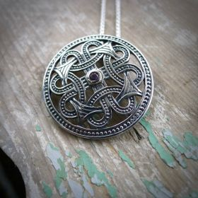 Enna Celtic Necklace with Amethyst