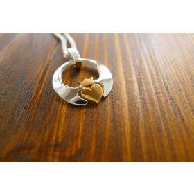 Claddagh Pendant - 24k Heart