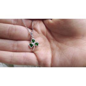 Irish Jewellery, Shamrock pendant in silver